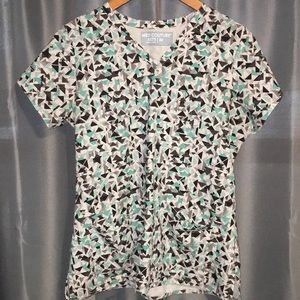 Med couture size medium stretchy scrub top